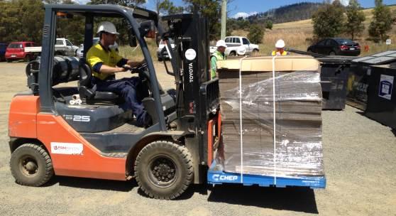 Forklift practical training